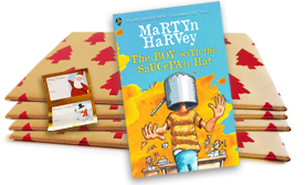The Boy with the Saucepan Hat by Martyn Harvey pre-wrapped (Christmas Trees)